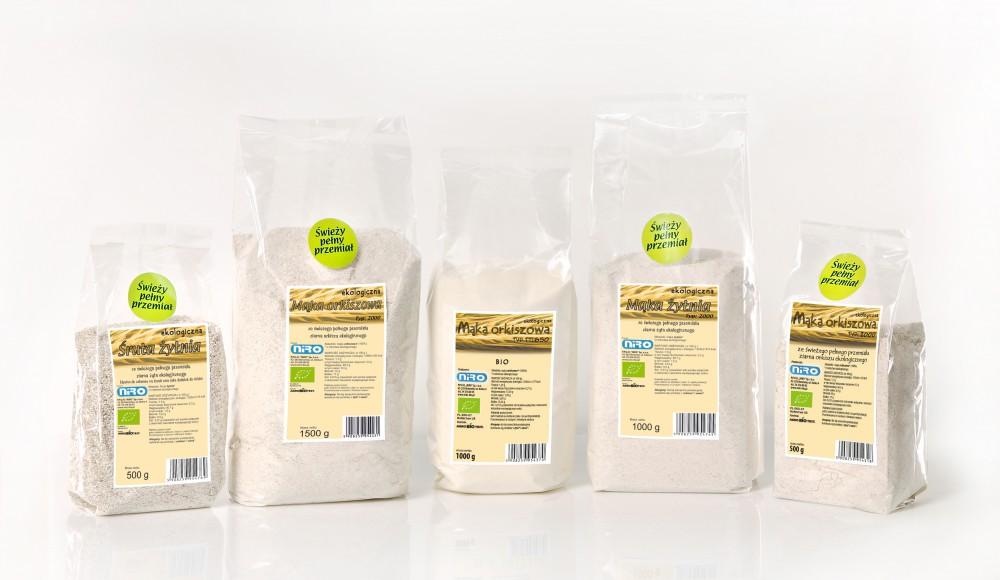 Przetwory zbożowe - mąki firmy NIRO