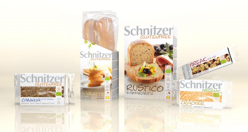 Ekologiczne bezglutenowe produkty firmy Schnitzer