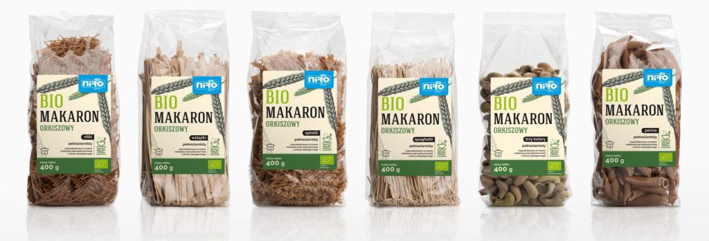 Bio makarony orkiszowe pełnoziarniste